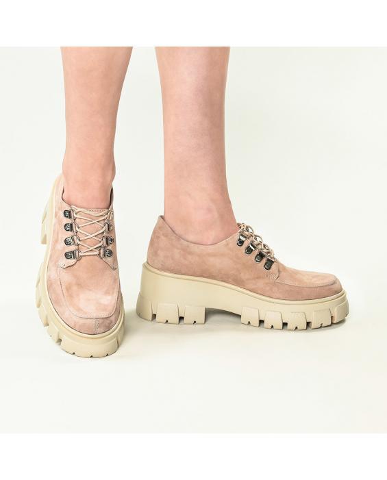 Pantofi din piele intoarsa nude Iriss