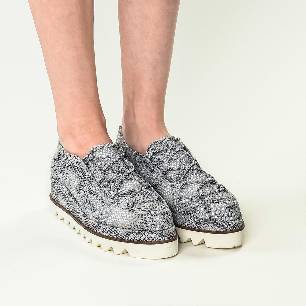 Pantofi din piele naturala cu imprimeu sarpe Sofie