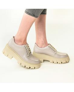 Pantofi din piele naturala gri Iriss