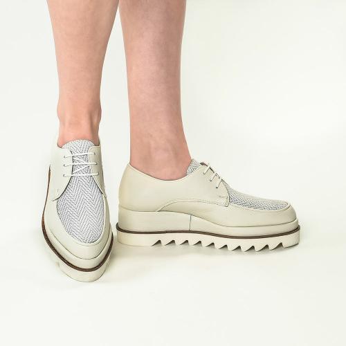 Pantofi din piele naturala ivoire Venus