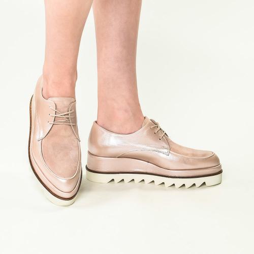 Pantofi din piele naturala nude Venus
