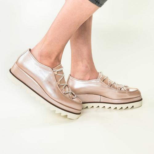 Pantofi din piele naturala nude Sofie