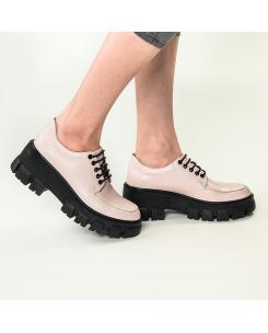 Pantofi din piele naturala roz-nude Iris