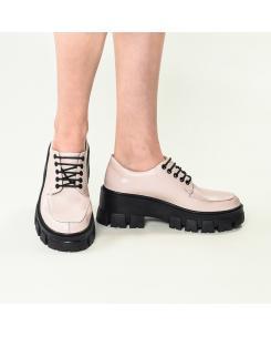 Pantofi din piele naturala roz-nude Iriss