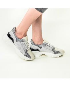 Pantofi sport din piele naturala texturata Agnes