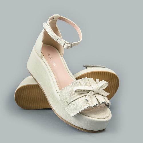Sandale din piele naturala ivoire Sonia