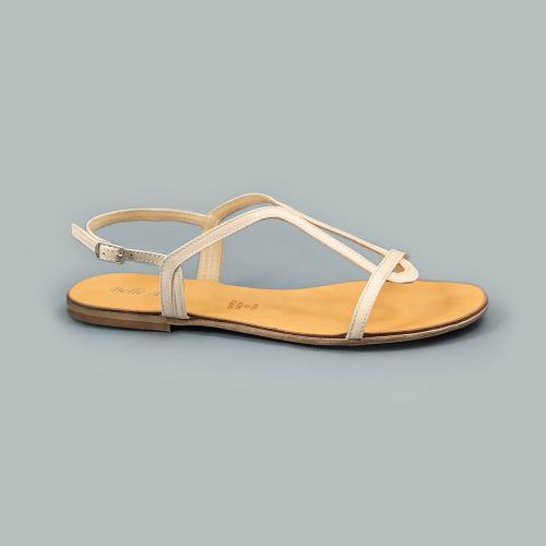 Sandale din piele naturala nude Vera