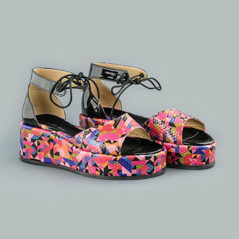 Sandale din piele naturala roz Blanca