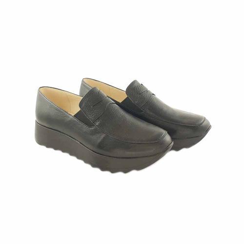 Pantofi din piele naturala neagra Anais