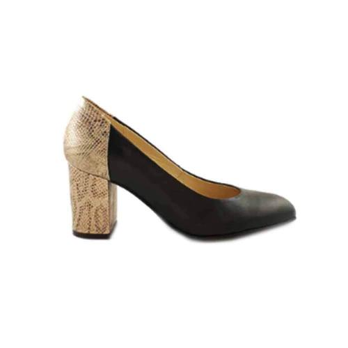 Pantofi cu toc din piele naturala Ambroise