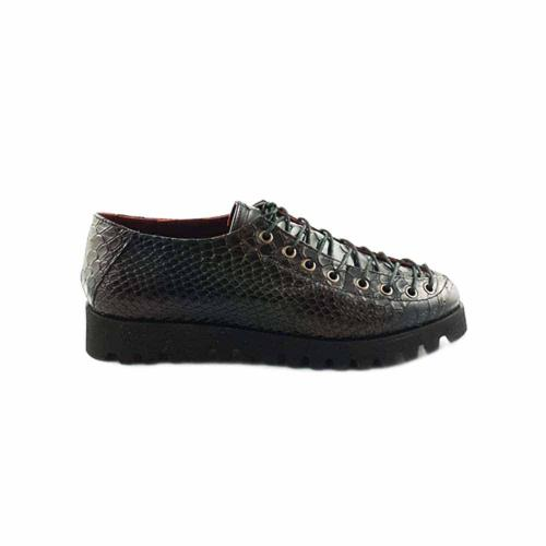 Pantofi din piele croco multicolora Opyum