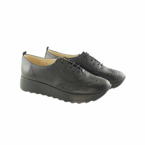 Pantofi Oxford din piele naturala neagra Apollo
