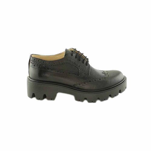 Pantofi Oxford din piele naturala neagra Jessica