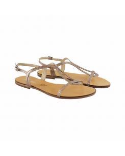Sandale din piele naturala cupru Vera