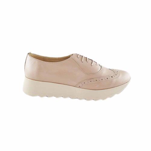 Pantofi Oxford din piele naturala bej-sidef Apollo