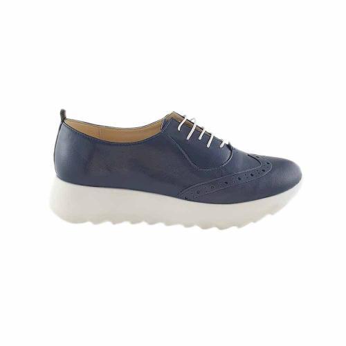 Pantofi Oxford din piele naturala bleumarin Apollo