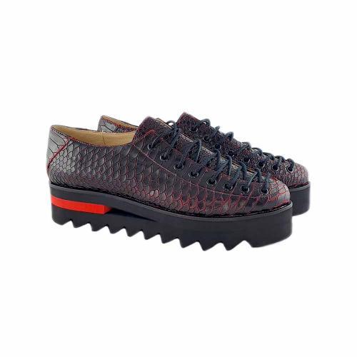 Pantofi din piele imprimeu sarpe Evelyne