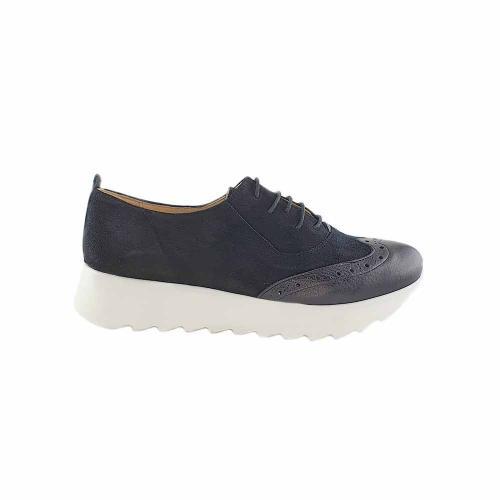 Pantofi Oxford din piele intoarsa neagra Apollo