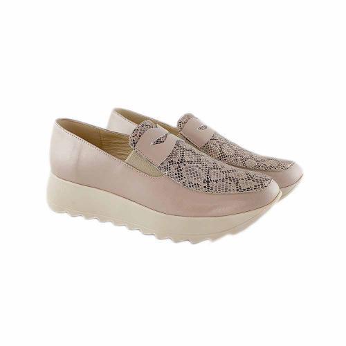 Pantofi din piele naturala bej Anais