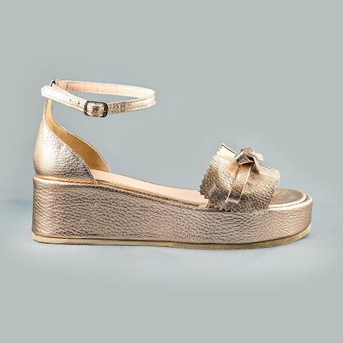 Sandale din piele naturala cupru Sonia