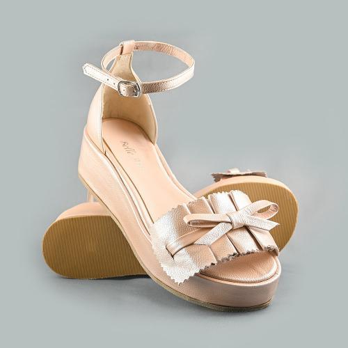 Sandale din piele naturala nude Sonia