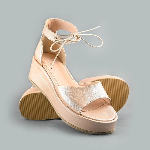 Sandale din piele naturala nude Blanca