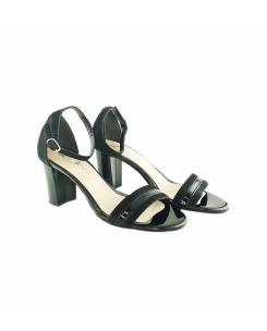 Sandale din piele intoarsa neagra Esther
