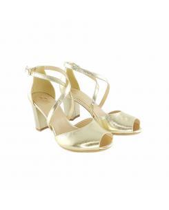 Sandale din piele naturala aurie Nicolle