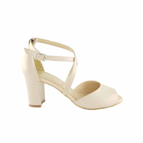 Sandale din piele naturala nude Nicolle