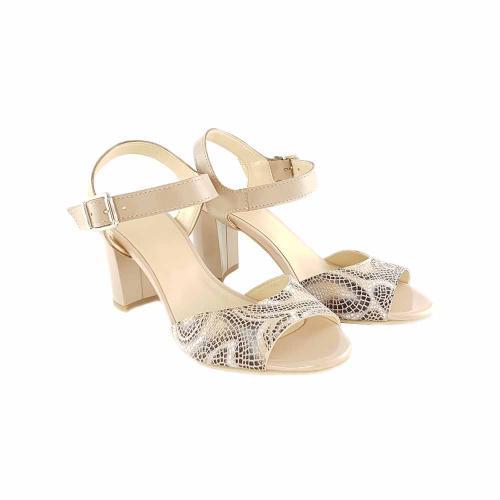 Sandale din piele nude si color Ivona