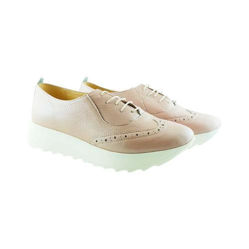 Pantofi Oxford din piele naturala nude Apollo